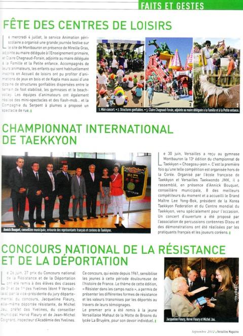 Article Championnat de Taekkyon Versailles Magazine